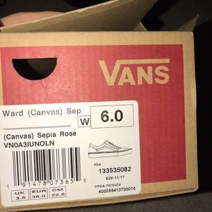 Vans Shoes - Rose Skater Vans